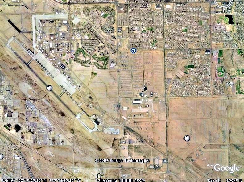 Cementerio de aviones de Tucson. Imágenes + Info