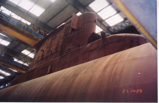 Submarinos argentinos en construcción.