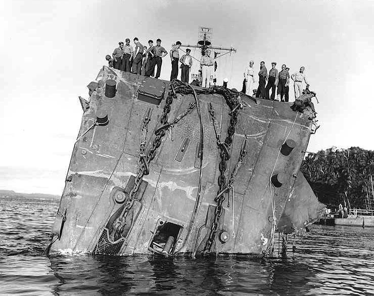 Tulagi 20 Luglio 1943 La Prora Dell Honolulu Cl 48