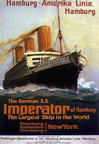 el imperator en su momento el buque mas grande del mundo hacia la ruta hamburgo nueva york. Black Bedroom Furniture Sets. Home Design Ideas
