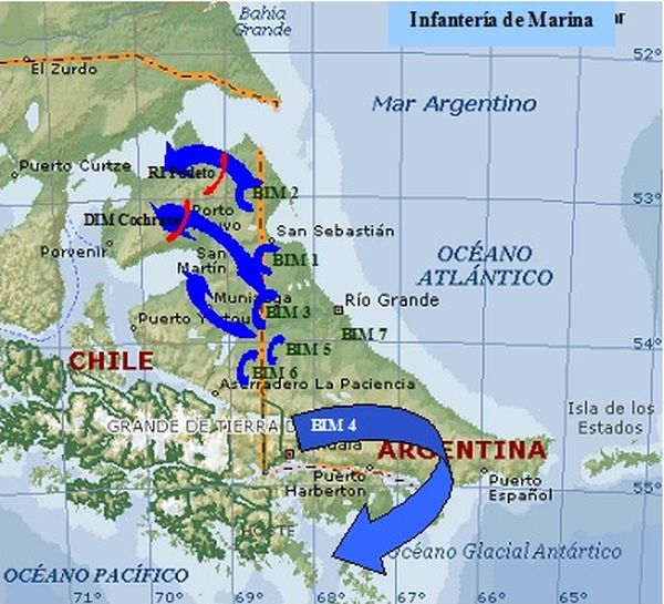 Tierra del Fuego, Ushuaia y el canal Beagle en el conflicto de 1978